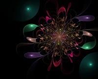 Abstract fractal mooi bloem door de computer geproduceerd beeld stock illustratie