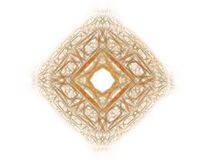 Abstract fractal with orange pattern. On white background Royalty Free Stock Photos
