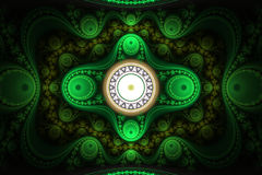 Abstract fractal ornament Stock Afbeeldingen