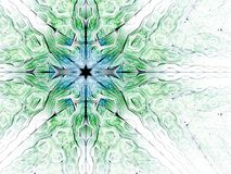 Abstract fractal patroon met ster Stock Fotografie