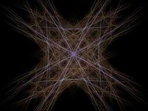 Abstract fractal patroon van gele lilac krommen Royalty-vrije Stock Afbeelding