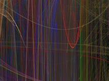 Abstract fractal patroon van lichtgevende gekleurde verticale lijnen Stock Foto's