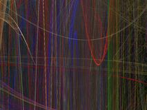 Abstract fractal pattern of luminous colored vertical lines Stock Photos