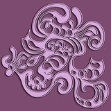 Abstract fractal pattern. On white background Royalty Free Stock Images