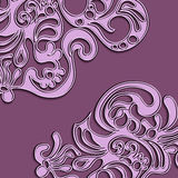 Abstract fractal pattern. On white background Stock Photography