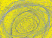 Abstract fractal pattern on yellow background Royalty Free Stock Photography