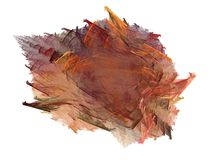 Abstract fractal in a pile of autumn leaves Stock Images