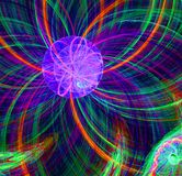 Abstract fractal purper fantastisch vreemd zonbeeld Stock Foto's