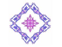 Abstract fractal with purple pink pattern. On a white background Royalty Free Stock Photo