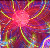 Abstract fractal red fantastic alien sun image Royalty Free Stock Image