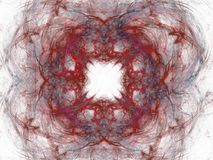 Abstract fractal with red floral pattern of curves Royalty Free Stock Photography