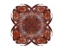 Abstract fractal with a red pattern. On a white background Royalty Free Stock Images