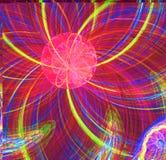 Abstract fractal rood fantastisch vreemd zonbeeld stock illustratie