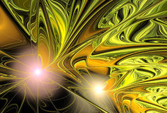 Abstract fractal shape Stock Photo