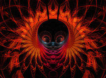 Abstract fractal shapes background. Color abstract fantasy background with bright fractal shapes Royalty Free Stock Image