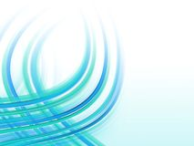 Abstract fractal smokey background. Blue lines, waves Royalty Free Stock Image