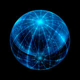 Abstract Fractal Sphere Background Royalty Free Stock Photography