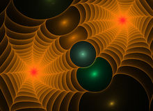Abstract fractal spiderwebs background. Abstract colorful bright fractal spiderwebs background Royalty Free Stock Photos