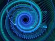 Abstract fractal spiraalvormig patroon Stock Foto