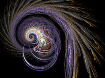 Abstract fractal spiral pattern Stock Photos