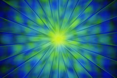 Abstract fractal sunrise in yellow and blue Stock Photos