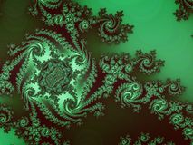 Abstract fractal swirly patroon Stock Foto's