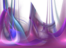Abstract fractal on transparent background Stock Photography