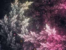 Abstract fractal trees. Digital artwork for creative graphic design royalty free stock photos