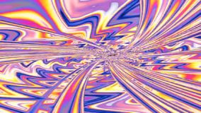 Abstract fractal tunnel stock footage