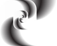 Abstract fractal twirl as logo, background. Abstract fractal swirl black and white as logo or background as a vector illustration. An artistic wallpaper. A Stock Images