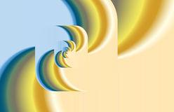 Abstract fractal twirl as logo, background Stock Images