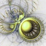 Abstract fractal uurwerk royalty-vrije illustratie