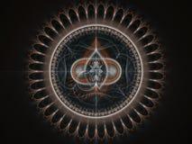 Abstract fractal uurwerktoestel stock illustratie