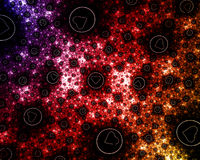 Abstract fractal Valentine's day background with hearts Royalty Free Stock Image