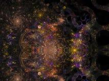 Abstract fractal van de het malplaatjestijl van de explosiebliksem dynamisch het decor buitensporig visueel harmonisch ontwerp stock illustratie