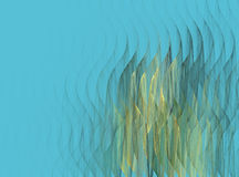Abstract fractal wave pattern. On blue background Royalty Free Stock Photos