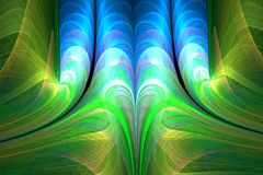 Abstract fractal waves Stock Photo