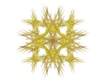 Abstract fractal with yellow pattern Royalty Free Stock Photography