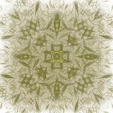 Abstract fractal with a yellow pattern on a white background.  stock illustration