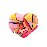 Abstract Fractured Heart Royalty Free Stock Photos