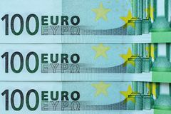 Abstract fragment the banknote of 100 euros Royalty Free Stock Image