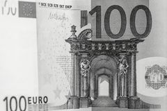 Abstract fragment the banknote of 100 euros Stock Photo