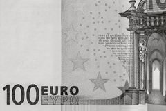Abstract fragment the banknote of 100 euros Stock Image