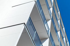Abstract fragment of modern white architecture Stock Images