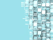 Abstract fragmented backdrop pattern in blue gray white Royalty Free Stock Photo