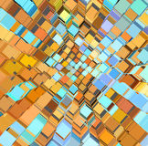 Abstract fragmented pattern in blue orange Stock Photography