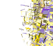 Abstract fragmented pattern in purple yellow Royalty Free Stock Photos
