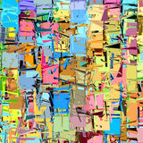 Abstract fragmented shape in rainbow color Royalty Free Stock Photography