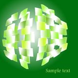 Abstract fragmented sphere Royalty Free Stock Photography