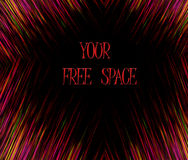 Abstract frame. Made of many colors. Free space at central spot is ready to insert text royalty free illustration